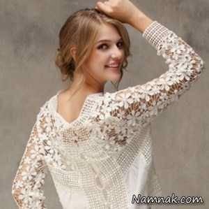 پیراهن کوتاه کرپ دانتل مدل بلوز حریر و شومیزهای دانتل مجلسی 2016 | خواندنی ها